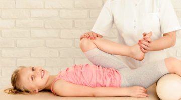 Young Girl Receiving Massage