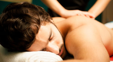 Man Receiving Swedish Massage